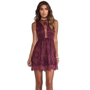 For Love & Lemons Lulu Lace Mini Dress O836